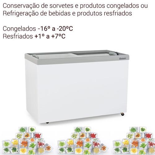 freezer porta vidro para congelados refrigerada 410 litros