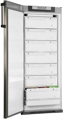 freezer vertical kohinoor gsa-2694/7 acero inoxidable 250 l