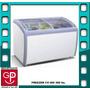 Freezer Con Puerta De Cristal Corrediza Curva Cv-360 360lts