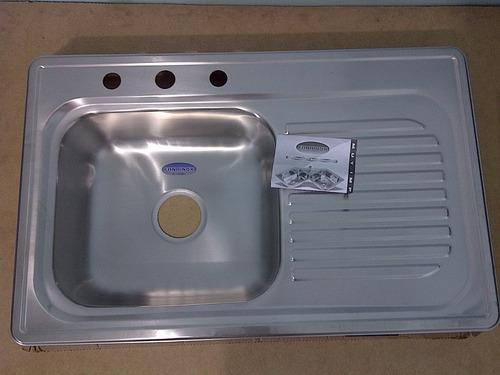 fregadero 84x53 fanainox acero inox (sobre tope) 75vrdes