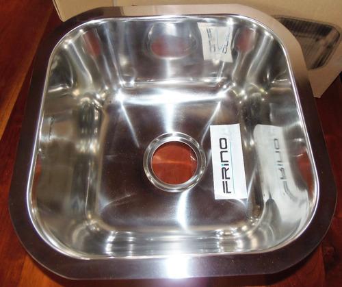 fregadero bajo tope  40x40x20  frinox 1 tina diseño italiano