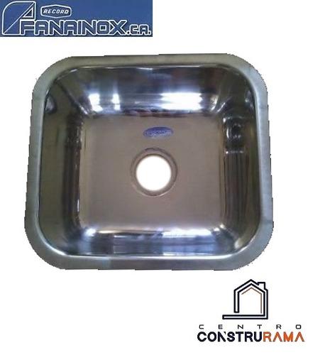 fregadero bajo tope fanainox acero inoxidable 35x40
