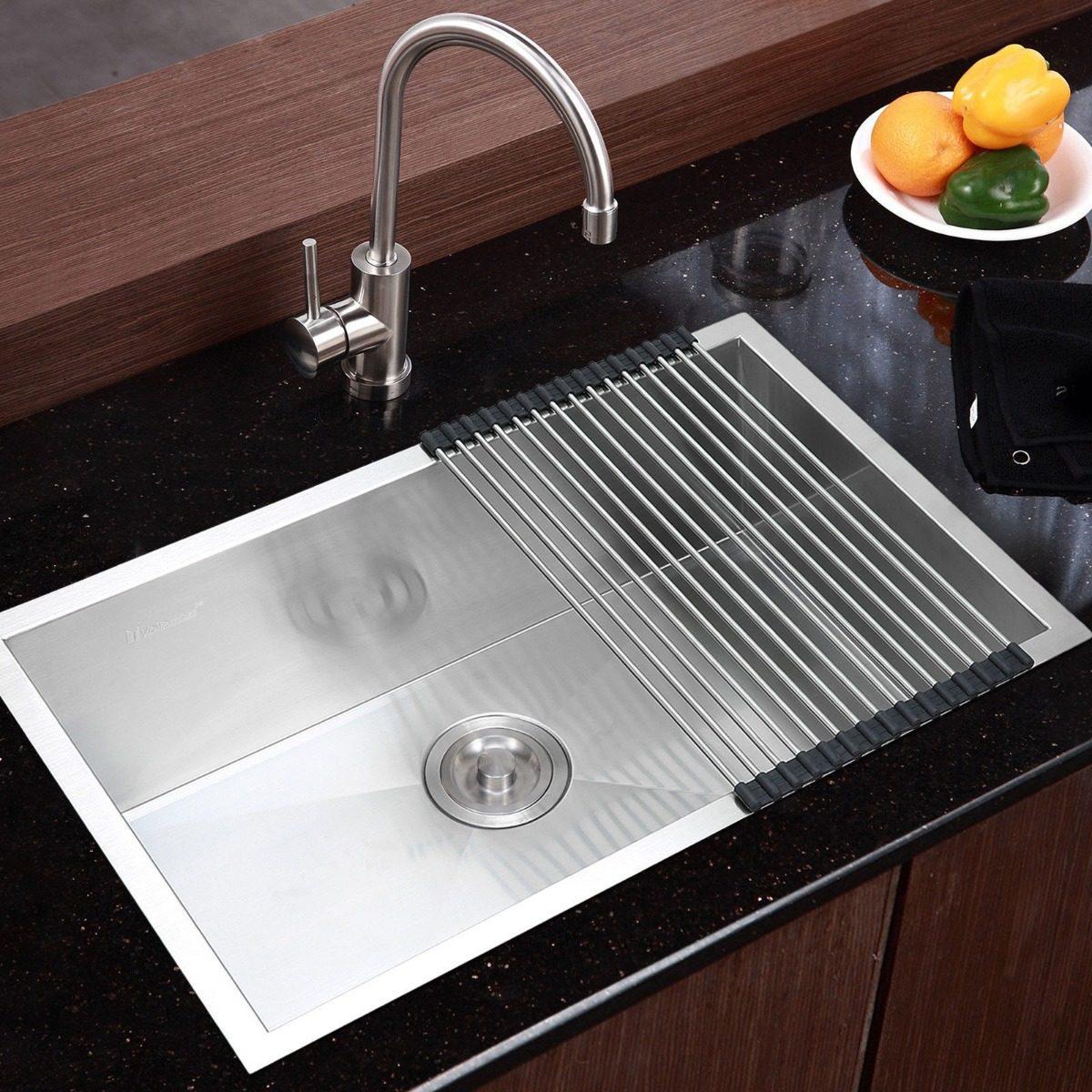 Fregadero de cocina en acero inoxidable para montaje - Fregaderos de acero inoxidable ...
