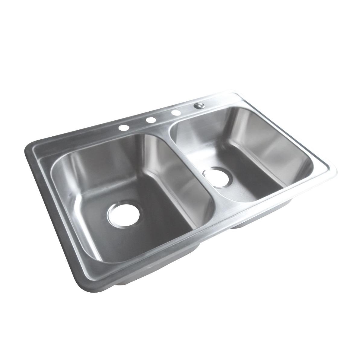 Fregadero De La Cocina De Plato Doble De 33 X... (sink, 1 ...