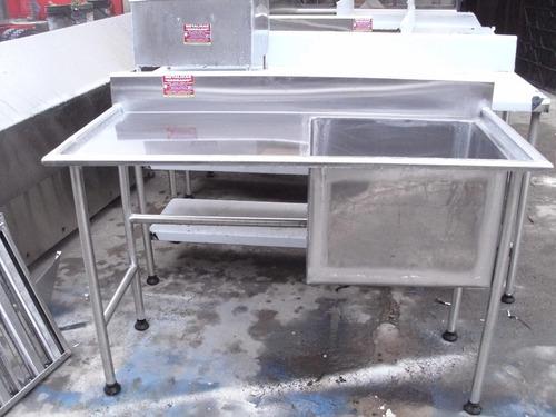 fregadero industriales mesas de trabajo de acero inoxidable