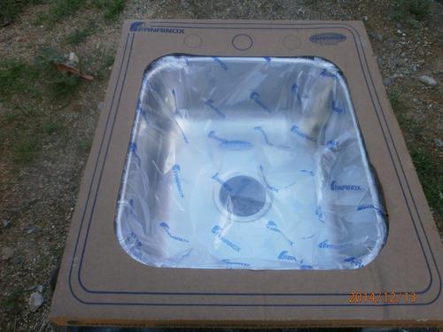 fregadero lavaplatos 53x45x17 acero inoxidable de tres hueco