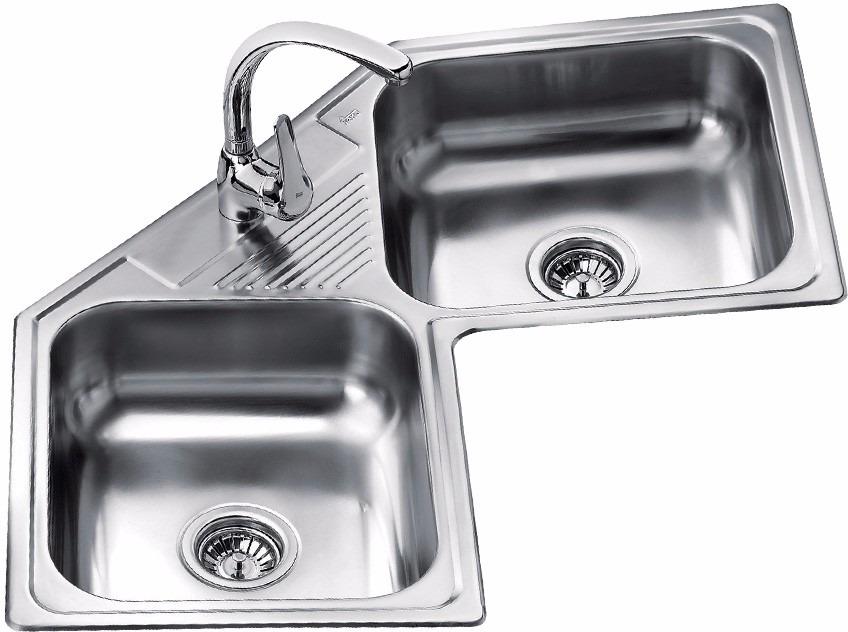 Fregadero lavaplatos esquinero teka acero inoxidable for Fregadero esquinero
