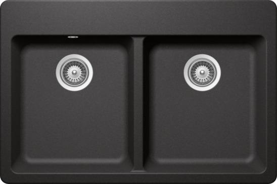 Fregadero schock de cuarzo gris 2c mod alive n 200 stone for Muebles de cocina alve