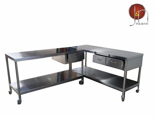 fregaderos, mesas de trabajo, equipo parasodas