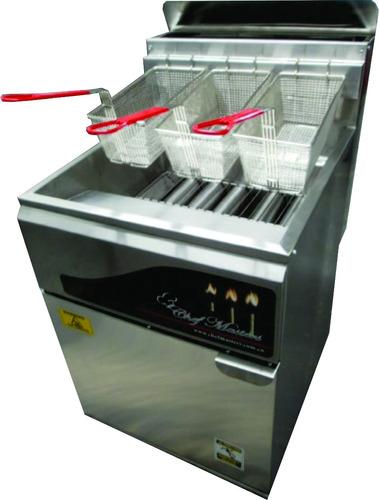 freidor de alto rendimiento de 28 a 32 litros chef masters
