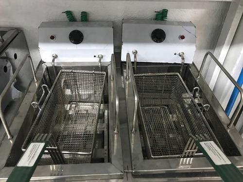 freidor industrial 2 canasta a gas o electrico acero inox