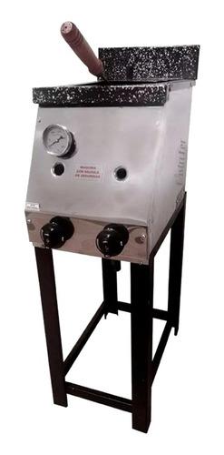 freidora 10 lts a gas tecnocalor + cortapapa mika + pelapapa