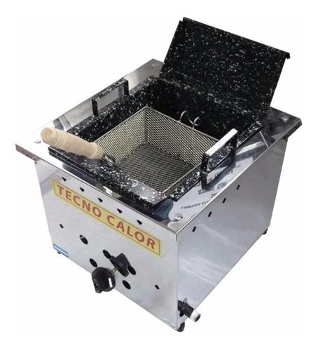 freidora 10 lts tecnocalor a gas acero inox bacha enlozada