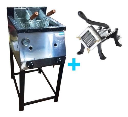 freidora a gas 33 lts tecnocalor + corta papas mika manual