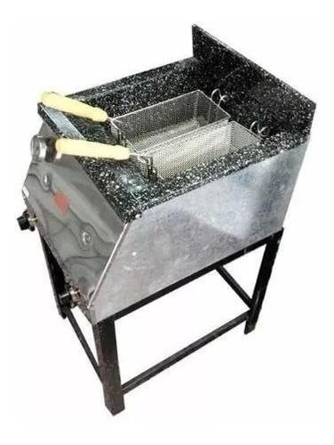 freidora a gas 33 lts tecnocalor frente acero inox cuotas