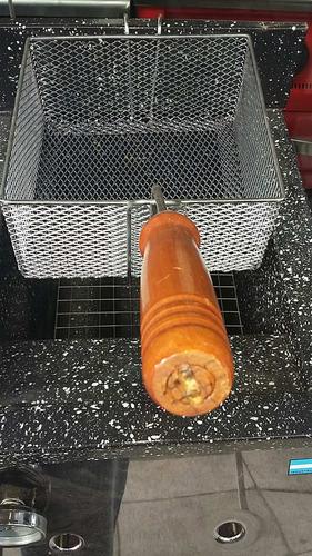 freidora a gas tecnocalor 18 lts acero inox bacha enlozada