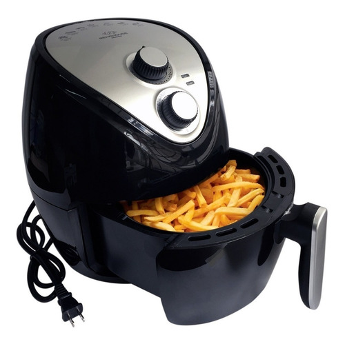 freidora air fryer fríe, asa y hornea sin aceite-negra