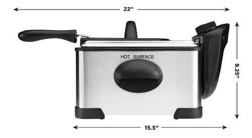 freidora chefman perfecto para pollo temperatura rj07-4dss-t