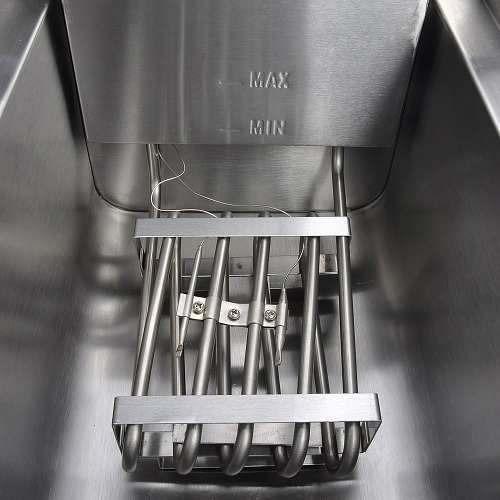 freidora comercial eléctrica 23.4 litros 3000 w yescom dual