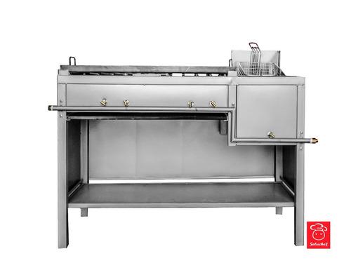 freidora con plancha 80x40 se convierte en estufa cocinas