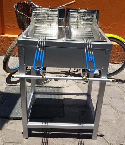 freidora  de 2  tinas.con regulador y manguera uso rudo!!!