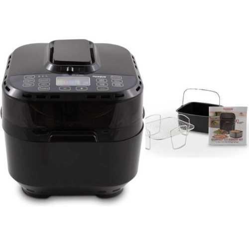 freidora de aire digital nuwave brio (10 qt, negro) con 2