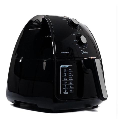 freidora de aire sin aceite digital midea msfa40a2ab 4ltr
