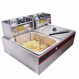 Freidora Doble Yescom 12l 5000 W Eléctrico Comercial Counter
