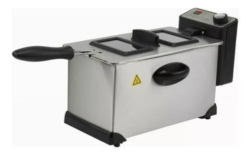 freidora eléctrica 3l. 1600w inoxidable recco