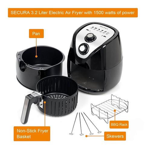 freidora electrica a vapor secura 1500 watt 3.2 l 3.4 qt