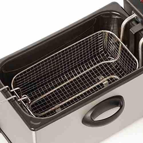 freidora electrica bella de 3,5 litros acero inox