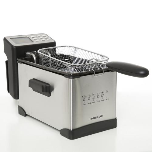 freidora electrica coolbrand - 3 litros - 2000w - deep fryer