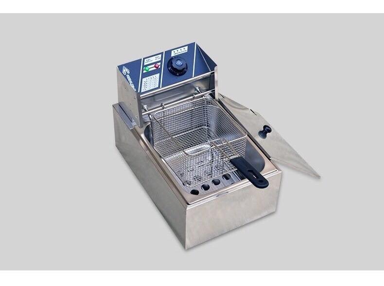 Freidora el/éctrica de 6 litros 2500 W de acero inoxidable para uso comercial.