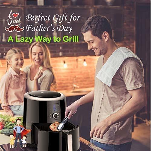freidora electrica de aire caliente 6 qt omoroc air fryer