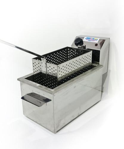 freidora electrica industrial marca lourdes canasto acero