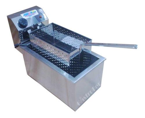 freidora electrica lourdes 12 lts acero inox automatica