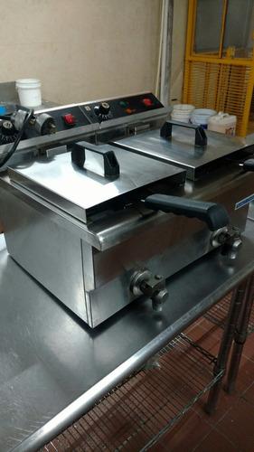 freidora electrica  marca robot cool doble 20 litros
