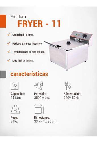 freidora eléctrica moretti fryer 11