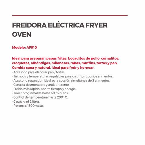 freidora electrica profesional 1500 watts freyr over papas