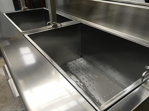 freidora especial doble pozo chifles acero