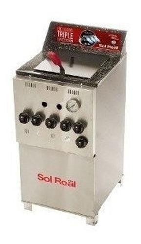 freidora ind sol real gas natural 18 litros - 044 - aj hogar
