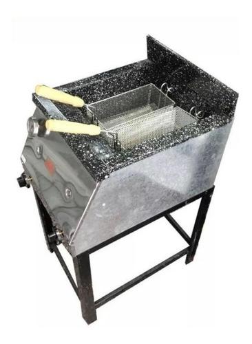 freidora industrial 33lts. c/ 2 canastos acero inoxidable
