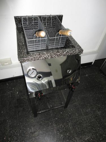 freidora industrial 33lts. c/ 2 canastos ahora 12 18