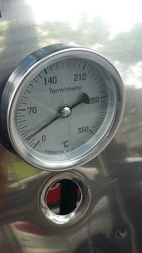 freidora industrial a gas tecnocalor 10 lts con patas termometro desagote y canasto
