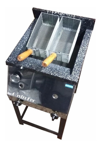freidora industrial a gas tecnocalor 33 l acero 2 canastos