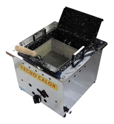 freidora industrial de mesa 8lts. c/ 1 canasto acro inox.