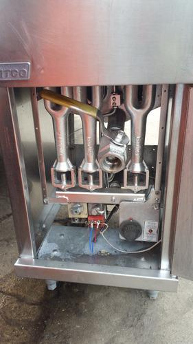 freidora industrial pitco y american de dos canasto