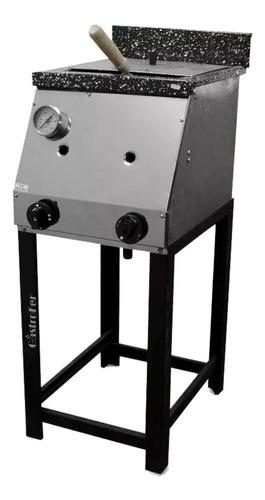 freidora industrial tecnocalor 18 lts a gas + corta papas