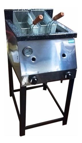 freidora industrial tecnocalor 33 lts acero c/2 canastos