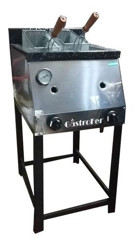 freidora industrial tecnocalor 33 lts acero dos canastos